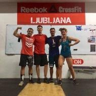 Keith Hinde, CrossFit425, Avstralija, Anthony Goosens in Barbara de Vlaeminck, CrossFit Cargo , Belgija
